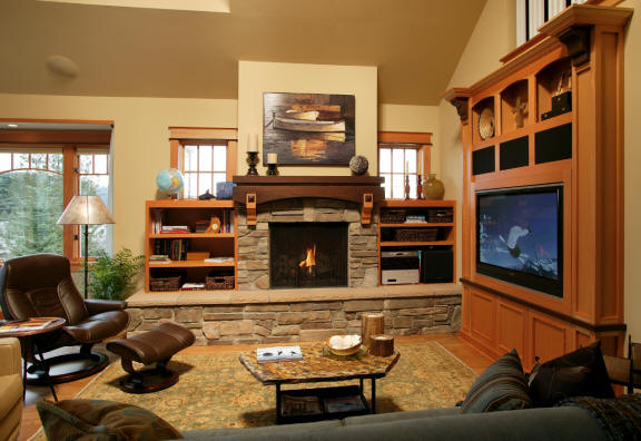 Custom Cabinetry Fireplace Mantel And Entertainment Center