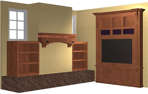 Custom Cabinetry - Fireplace Mantel and Entertainment Center ...
